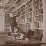 Immagine epoca biblioteca castello Cumiana
