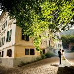 Sposi nei giardini Castello Canalis