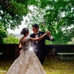 Ballo sposi giardini Castello Canalis
