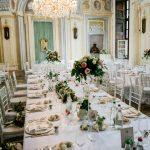 Tavolo imperiale salone aulico Castello Canalis